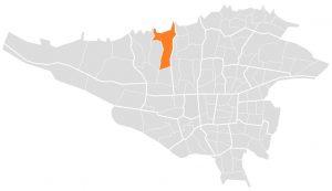 موقعیت پونک در تهران